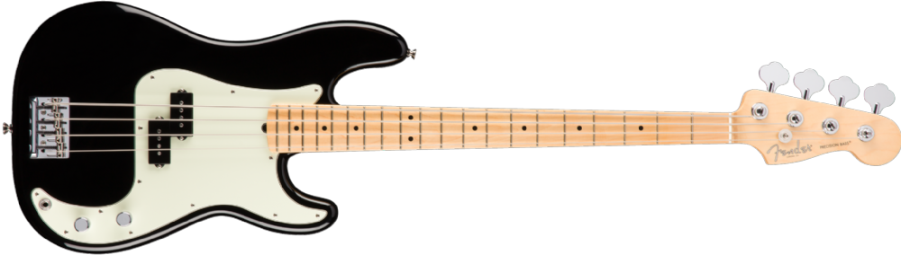 Fender American Pro Precision Bass Maple Fingerboard Black